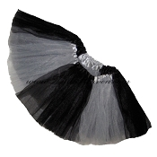 Girls to Plus Size Team Spirit Tutu BLACK GREY